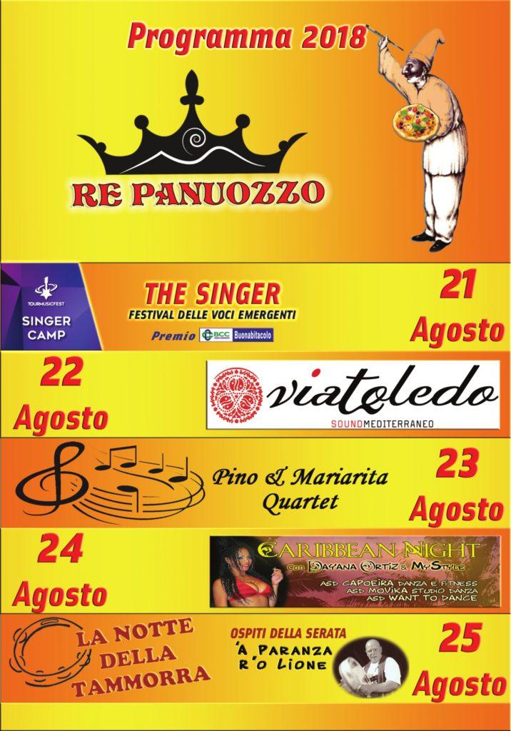 """Programma """"RE PANUOZZO"""" 2018"""